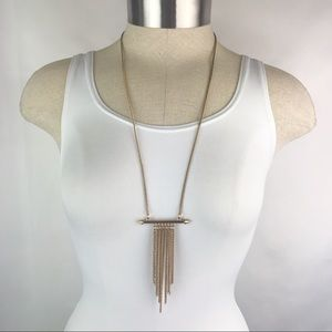 Gold-Tone Long Tassel Necklace